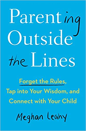 blue cover with book title, Parenting Outside the Lines